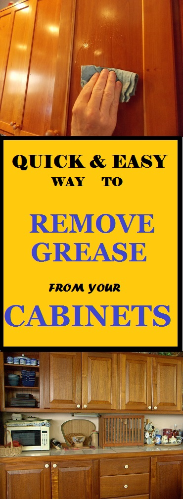 remove grease from wooden cabinets