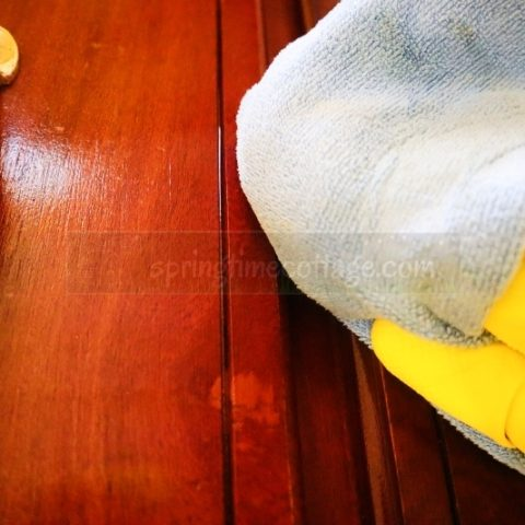 How To Remove Grease From Wood Cabinets Without Damage Springtime Cottage