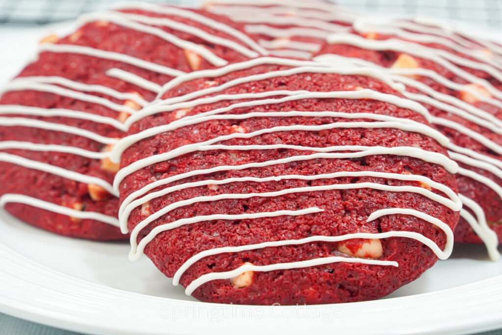 Red Velvet With Double White Chocolate Cookies