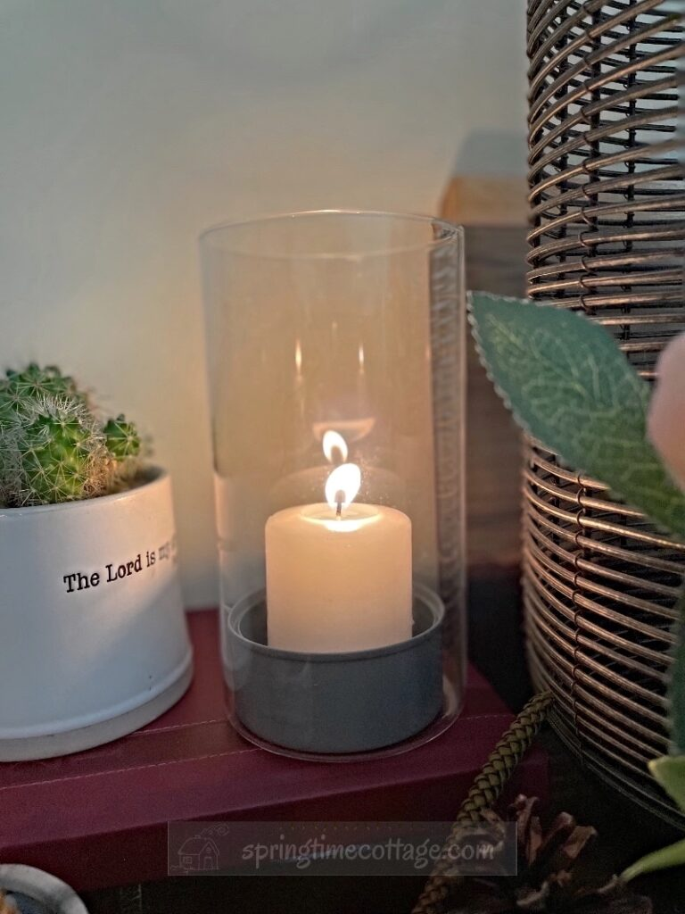 Upcycled Tin Can Candle Stand